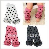baby socks lace leg warmers knee pad children legging Kids toddler High socks stocking 3color mix