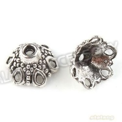 Free Shipping 180pcs/lot Wholesale Hollow Flower Shape Zinc Alloy Antique Silver Caps Beads End Caps Fit Jewelry Making 160793(China (Mainland))