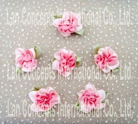 Wholesale Wedding Scrapbooking DIY Satin Handmade Ribbon Decorative Flower - pink 200pcs/lot free shipping