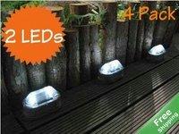 Solar path light+Path guide light+2 leds+100% solar powered+4pcs/lot+Free shipping