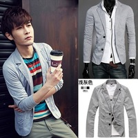 Freeshpping Man Korea Version Leisure Cultivate One's Morality Knitting Suit (Dark grey, Light gray, black M,L,XL,XXL)