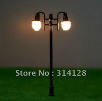 model landscape lights model material double-headed model lamp black double-headed garden lamp T46