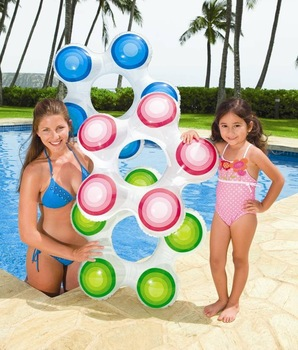 FREE SHIPPING petty cute Children swimming circle INTEX NEON FROST TUBE 3 color mix BRAND NEW for children 59248NP