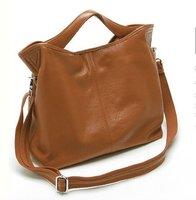 Free ship Factory Price Fashion Women Girl Lady Genuine leather Real Leather Brown shoulder Bag Messenger Bag Tote Handbag Purse