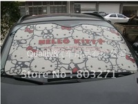 Free shipping-Car accessory, Auto Hello Kitty  aluminium foi Car Sun shade,front window sunshade