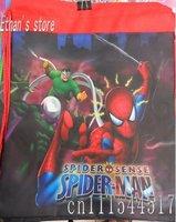 Free Shipping Red Spiderman  Nylon Drawstring bag non-woven shopping bag