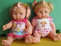 Newborn babies, acoustic control soft glue dolls, baby doll, fashion doll girl