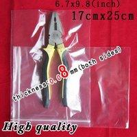 300PCS Ziplock 17cmx25cm  reclosable plastic bags ziploc  Premium Quality 3.2 MlL