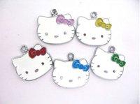 Wholesale 100pcs Hello kitty Hang Pendant Charms.Free Shipping