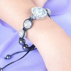 wholesale Shamballa bracelets jewelry Watches Free shipping Sell well lowest price 50pcs/lot Original factory(China (Mainland))