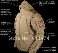 TAD Jacket Men's Outdoor Hunting Camping Waterproof Coats Jacket Hoodie jacket  Black / Green / Desert L - XXL