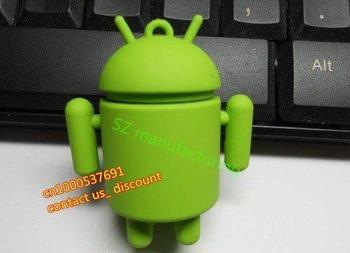 TRUE100% NEW!Google Android Robot USB 2.0 FLASH DRIVE pen drive usb stick 1/2/4/8/16/32GB usb thumb drive