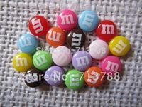 flat back resin m m candy  for phone decoration 90pcs/lot(each color 10pcs)