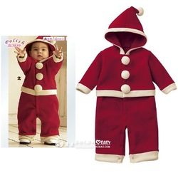 free shopping!New arrival children's clothing winter bodysuit cotton romper set baby romper baby clothes christmas installation(China (Mainland))