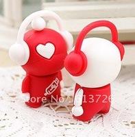 Free Shipping 5pcs/Lot Cartoon Musical Lover USB Flash Memory Drive Stick USB Drive disk Pen usb disk memory