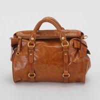 Top quality original brand Yau Wax calf leather bow-knot yellow ambre tote fashion handbag shoulder bag free shipping wholesale