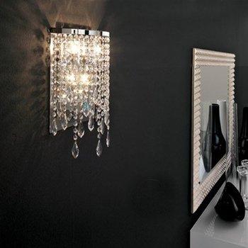 Brushed Chrome Bedroom Wall Lights : Mirror Front Corridor Hallway Wall Light led crystal wall lamp modern wall lights led mirror ...