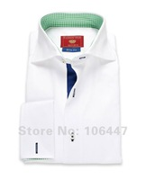 guaranteed 100%high quality itlay canclini shirt style Bespoke CustomTailored Men'swhite dress Shirts + free Shipping