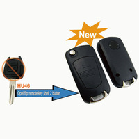 Good quality  !  for Opel Modified Flip Remote Key Shell 2 Button (HU46)