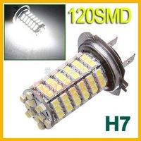 Front fog lights 120 LED the brightest 12W high power of the latest H7 LED car anti-fog light bulbs