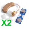 2 X Behind the Ear Amplifier Hearing Deaf Aid Aids New