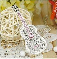 Crystal Guitar Model USB 2.0 Flash Memory Stick Pen Drive 2GB 4GB 8GB 16GB 32GB LU091 (Two color can be choosed)
