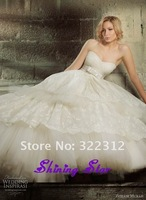 2014 New Arrival Zuhair Murad Ivory Tulle with Lace Sweetheart Elegant Bow Fashion Wedding Dress Bridal Gown