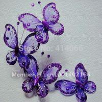 50pcs purple butterfly Wedding Decoration 5cm