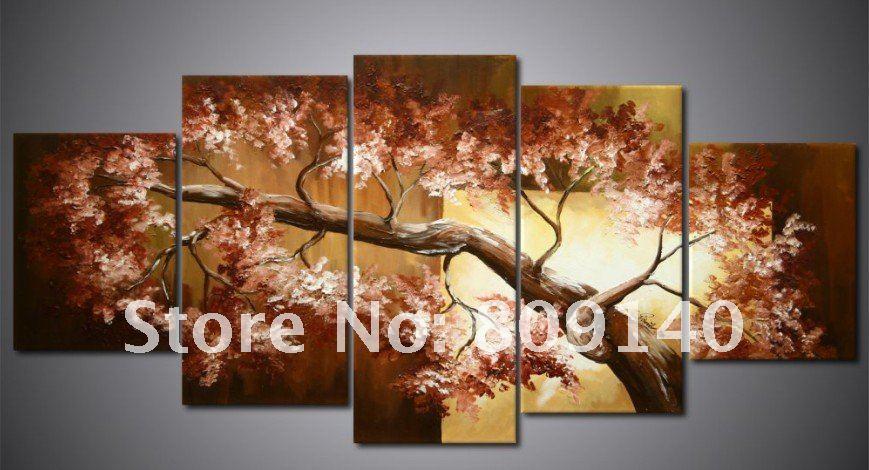 Oil painting canvas flower landscape modern home for Artworks for home decoration