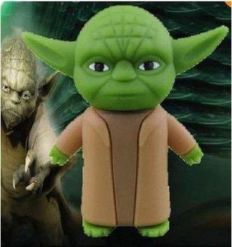 100% Yoda Cartoon USB 2.0 Flash Memory Stick Pen Drive 2GB 4GB 8GB 16GB 32GB LU092