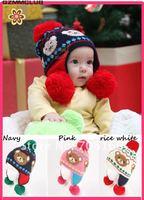 Baby knitting hat,kids big Double ball earmuffs cap,bear beanie,10pcs/lot sell,china post air mail FREE SHIPPING