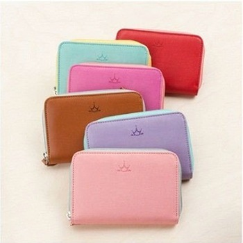 Drop shipping  pu leather wallet,mobile phone bag,candy color wallet,6 colos for choose retail 1pcs