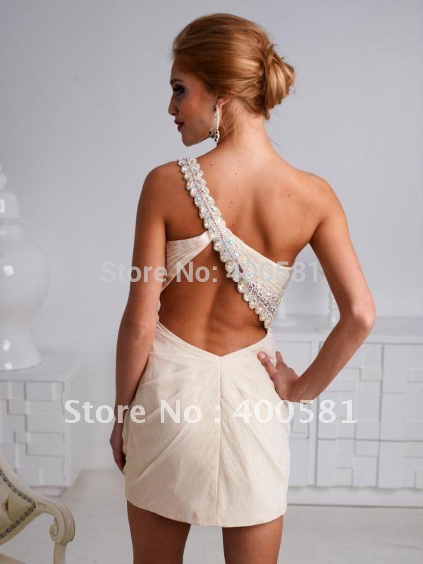 Images of Open Back Short Dresses - Reikian
