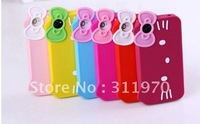 Hello Kitty Silicone Protector Case Cover for iPhone 4 4G 4S 4GS, 50pcs/lot
