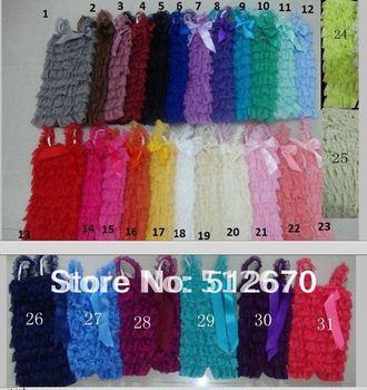 hot sale infant beautiful  multicolour lace petti rompers