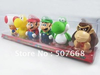 4set  6pcs/set Super Mario Bros Ghost Mario Diddy Kong Wario Goomba Figure