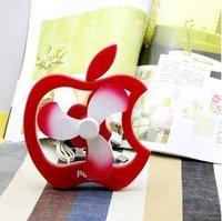 Mini Portable apple Soundless USB Cooling Fan/Desk Stand Fan Free shipping 3pcs/lot