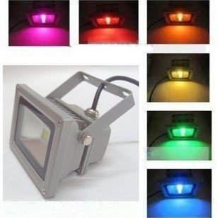 Free Shipping Led Floodlight 85-265V 20W Warm White / Cool White Outdoor Hight Power Wall Washer Lights + IR Control(China (Mainland))