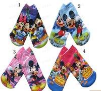 FREE SHIPPING  factory direct sale socks  Mickey kids socks baby socks cartoon design 2 sizes 4 colours selection