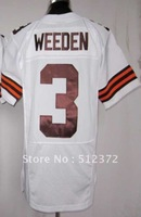 Free Shipping!!! 2012 new style #3 Brandon Weeden 2012 new white jersey