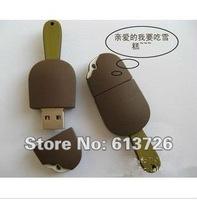 Free Shipping genuine Cartoon Chocolate  Cream   2G/4G/8G/16G/32G USB 2.0 Flash drive usb flash memory disk 5pcs/Lot