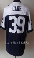 Free Shipping!!! 2012 new style #39 Brandon Carr 2012 new thanksgiving day blue jersey