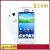 HOT i9300 TV phone 4.0 Inch Touch Screen Quad Band mobile Phone Dual SIM Card Cell Phone Free shipping