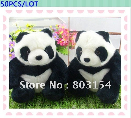 Christmas gift panda doll manufacturers wholesale plush toy 8inch 50PCS/LOT EMS Free shipping(China (Mainland))