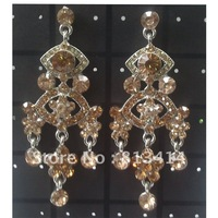 Товары на заказ Women/Girl's Charm Bule Clear Drill Large Dangle Earrings
