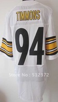 Free Shipping!!! 2012 new style #94 Lawrence Timmons 2012 new white jersey