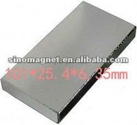 N50 Ni 101*25.4*6.35mm 1pcs /pack block neodym rare earth magnet