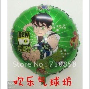 Free  shipping 50pcs/lot   round shape Ben balloon , Aluminum foil balloon , Children toys  wholesale