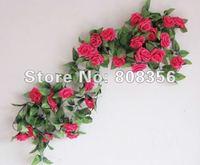 10p 2.5m / 8.2 ft Silk Simulation Artificial Rose Camellia Flower Garlands Wedding Christmas Party Wreath Vine Flowers