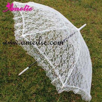 Белый Кружево Umbrella Свадьба